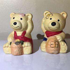 NWOT Ceramic Teddy Bear Salt/Pepper Shakers